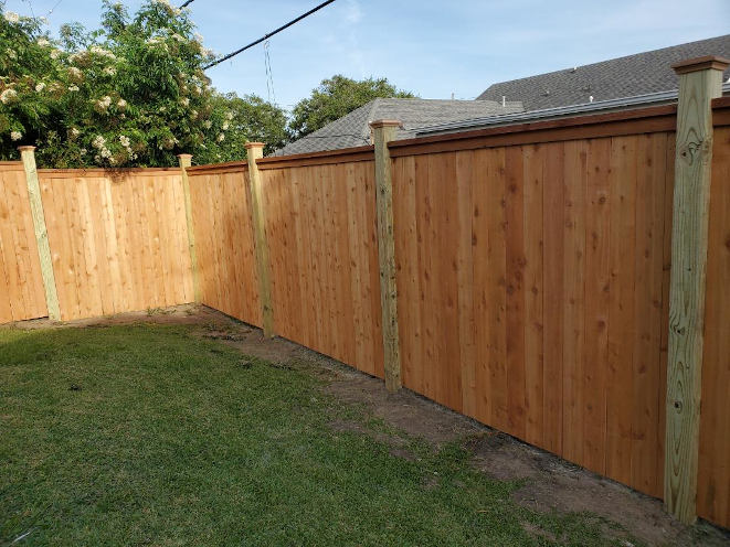 Wood Fence with Cap in Lakeview