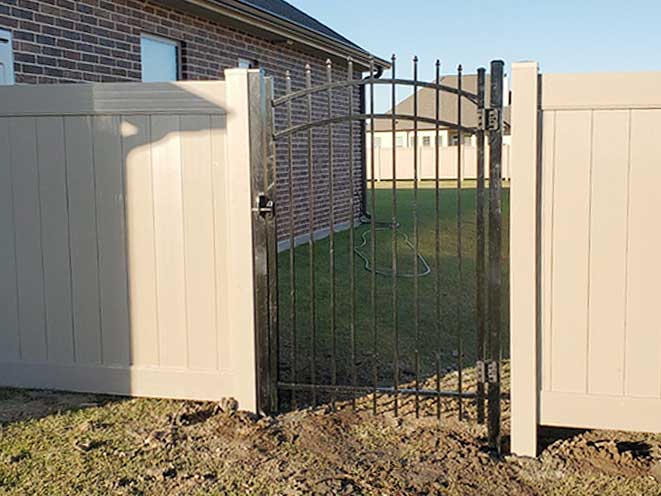 Personal Arched Iron Gate in Waggaman, LA.